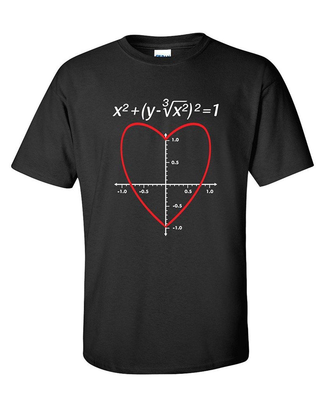 2019 New Sommer-beiläufige T-Shirt Liebes-Herz-Gleichung Math Grafik-Männer Lustige Valentinstag-T-Shirt