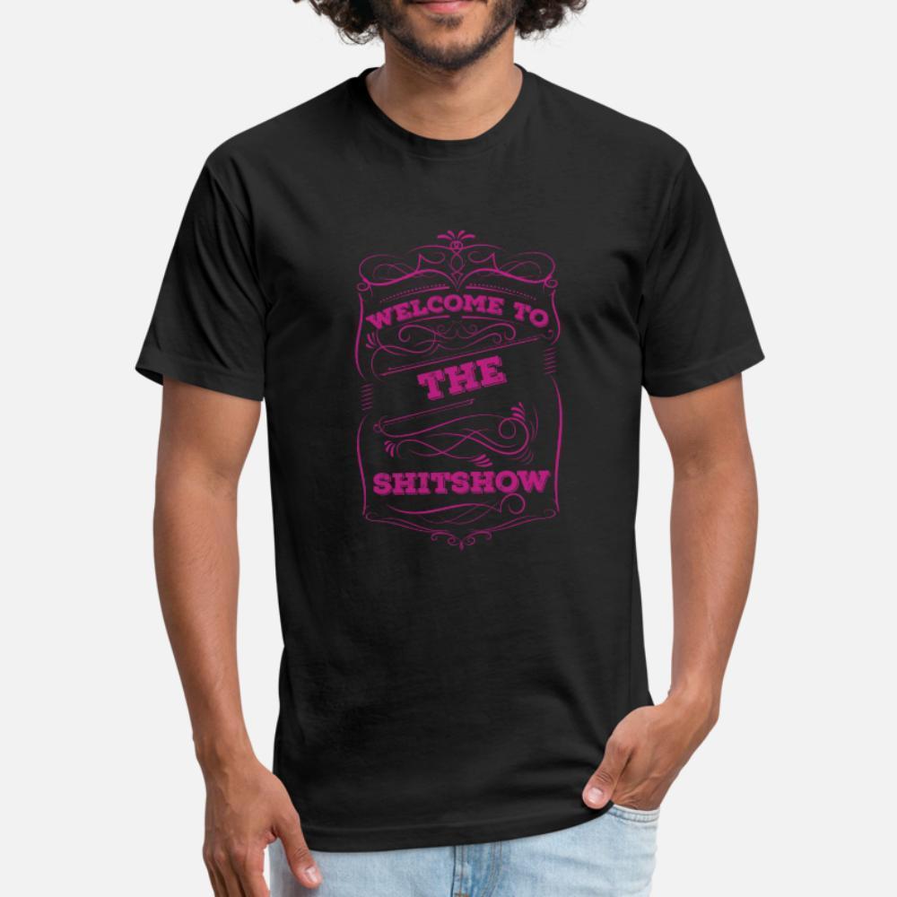 ¡Recepción al Cotton Shitshow hombres de la camiseta impresa S-XXXL La ropa suelta Edificio verano único