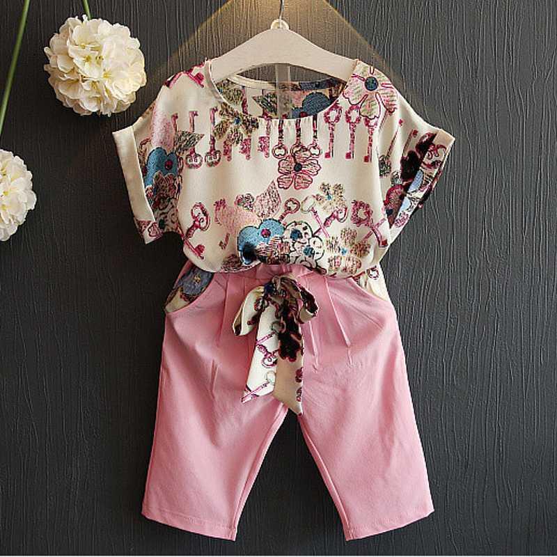 Summer Short Monos Para la niña de juego de ropa ropa de niños muchachas del niño de los mamelucos del chándal para los niños ropa rosa 2 5 8 Y