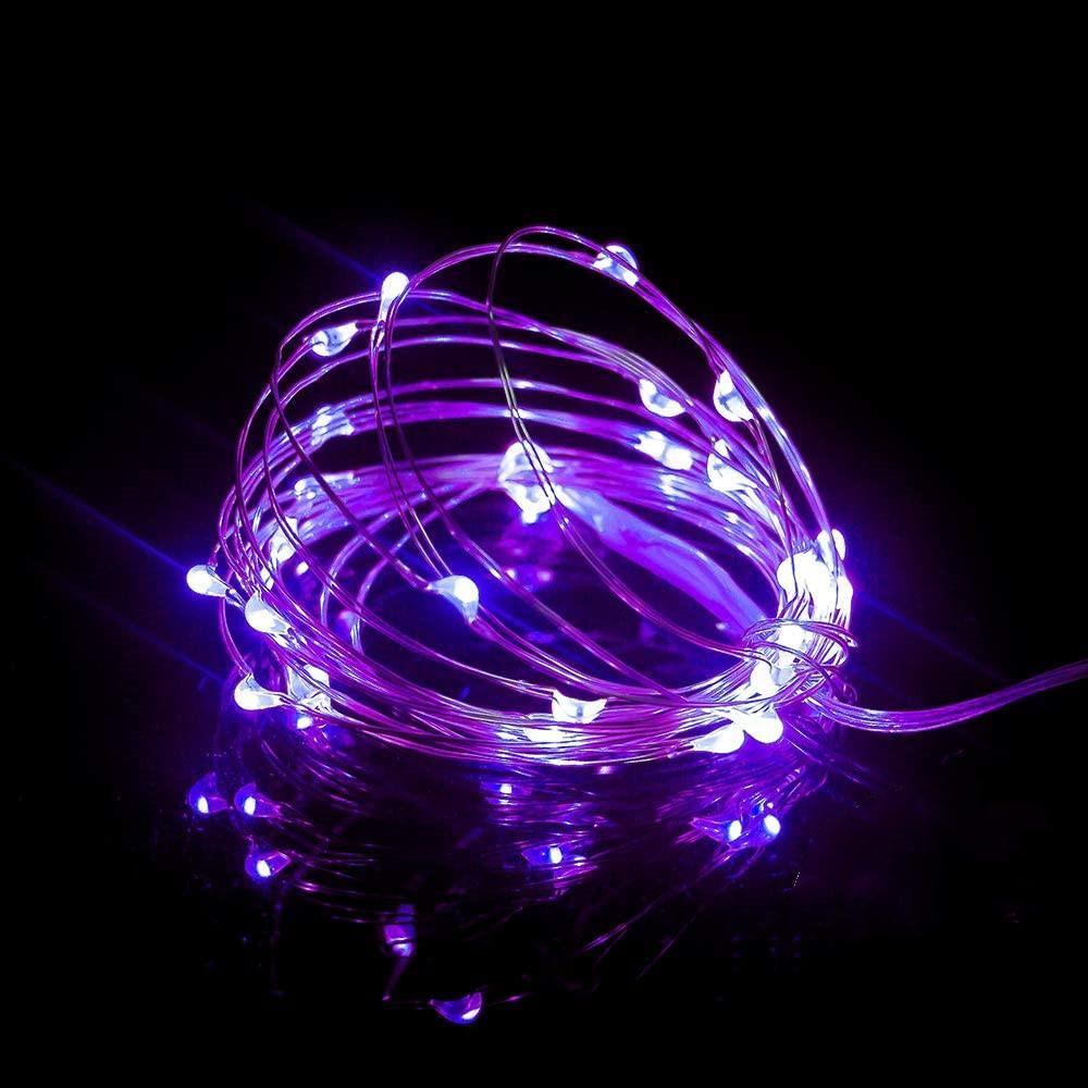 20pcs pilhas Led luzes de fadas fio de prata impermeável 2M 20 LED Luzes Cordas for Wedding Party DIY Quarto Pátio Xmas
