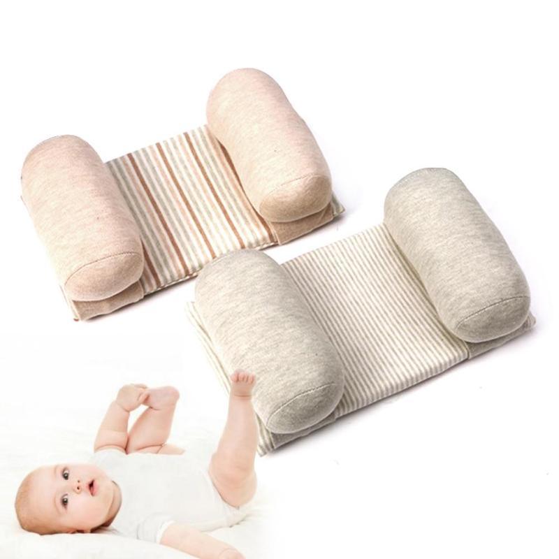 Новый удобный хлопок Анти Рулон Подушка для младенцев малышей Безопасный сон Глава позиционер младенца Форма подушки Постельные принадлежности XV2