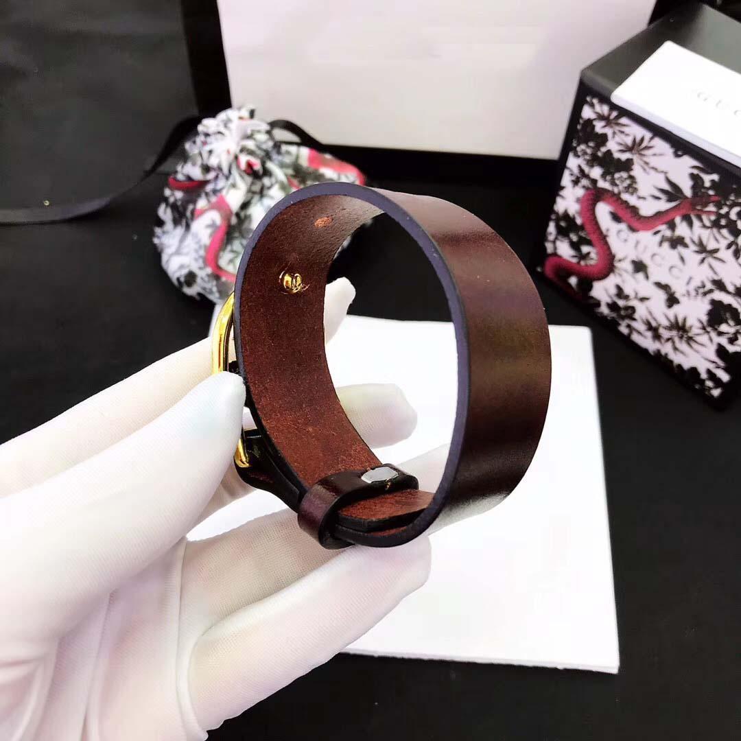 Frauenarmband in vielen Farben echtes Leder bradelet mit Metallspange Hochzeit Schmuck Geschenk-freies Verschiffen PS4719