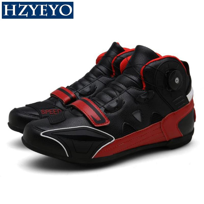 Motorcycle QUICK ADJUST Non-slip Boots Motorbike Protective Gear Cycling Cycle Riding Biker Chopper Cruiser Touring Ankle Shoes