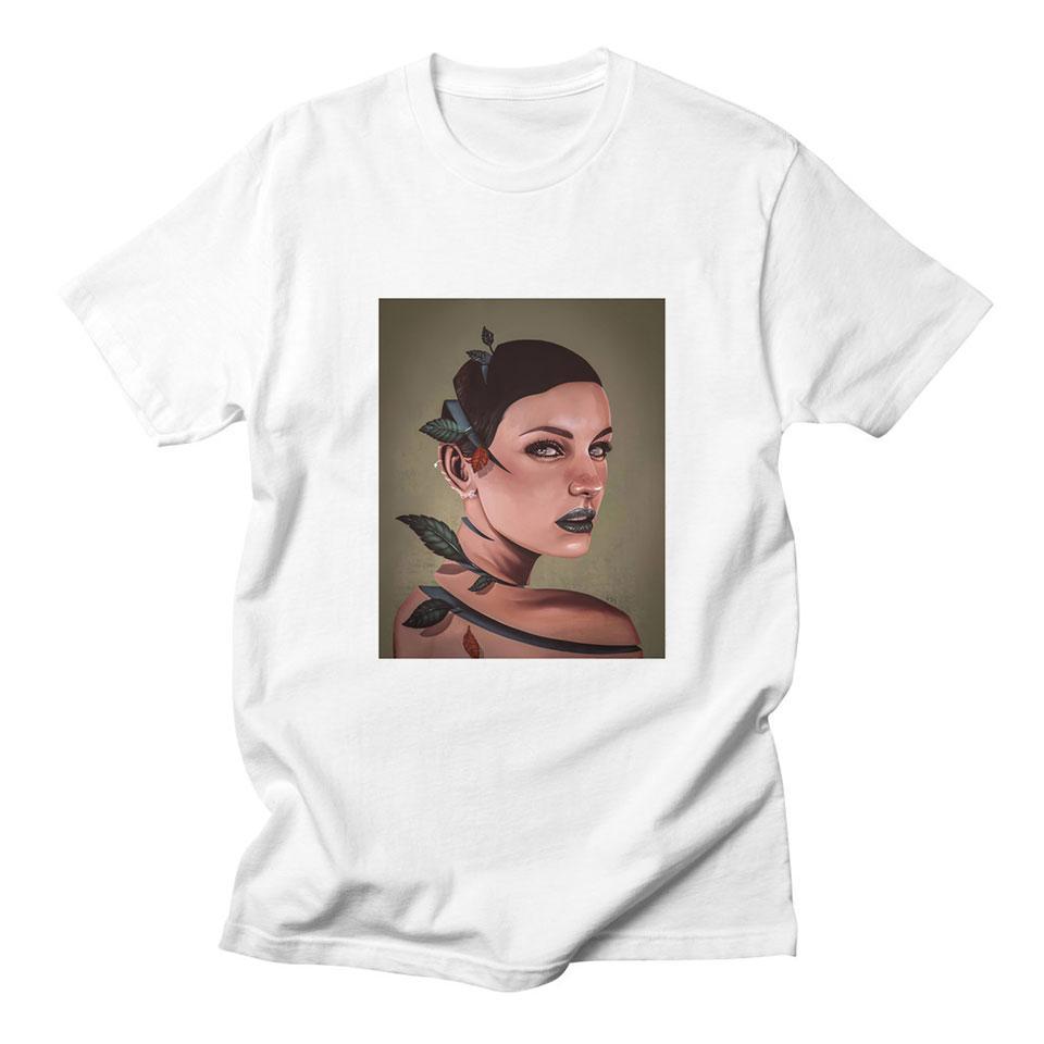 2020autumn Fille T-shirt décontracté drôle de conception à manches courtes Casual Hauts Kawaii doux Harajuku T-shirt Cool Fashion Plus Size