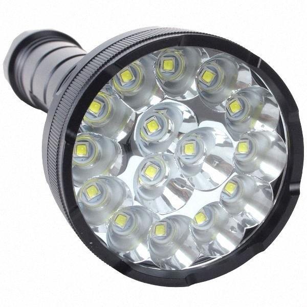 18000 lumen 15 X CREE XM L2 LED 5 Modalità luce impermeabile luminosa eccellente della torcia Con 1200m Distanza di illuminazione all'ingrosso della torcia elettrica Brands Wjaw #