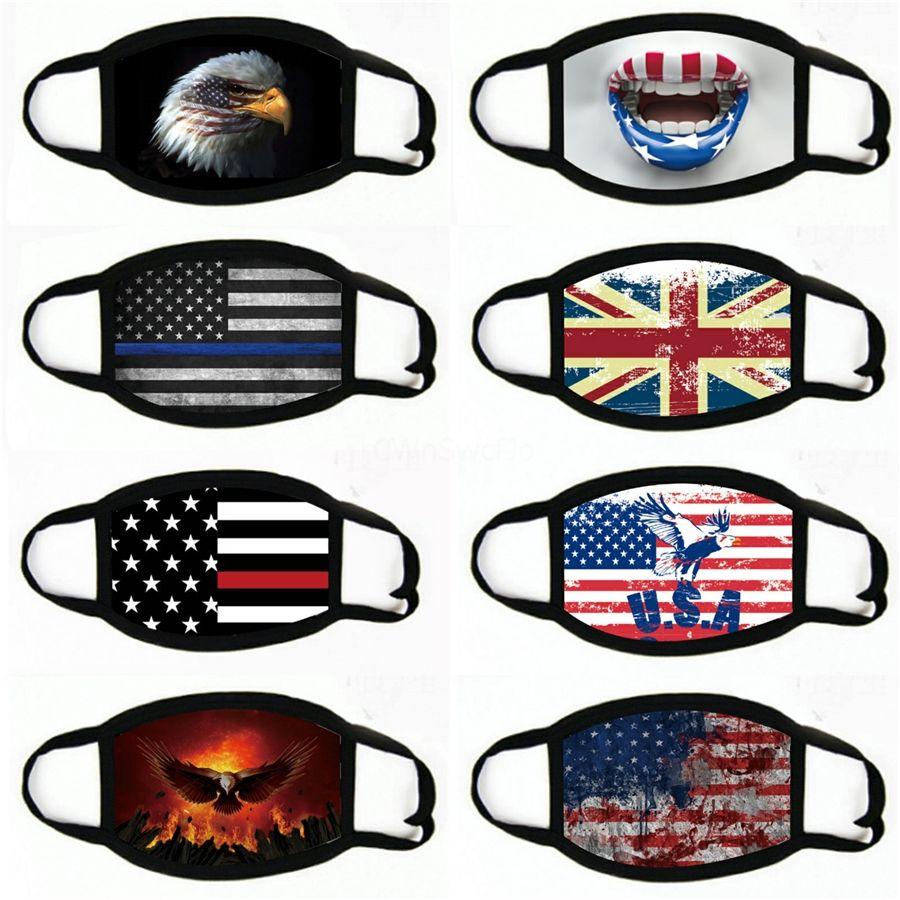 Amerika Nationale FlagsCloth Gesicht MasksStars Streifen Ventilation Mascarilla Gewohnheit waschbare Mode Staubdichtes 2 2BJ C2 # 891