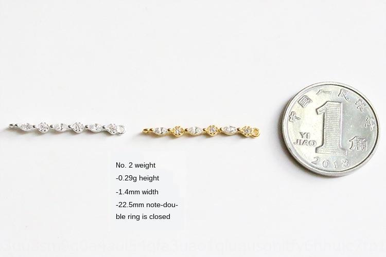 yQaS4 artesanal trave de duplo anel de cadeia de cadeia de zircão pequeno banhado S925 pendente da prata esterlina único caracteres micro-incrustada en4tw