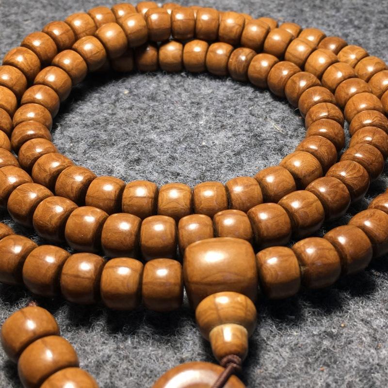 material de rosário Wutai Liudao Madeira contas de 108 barril Dragão pulseira 8 * 10mm pulseira de madeira velha Xbt64