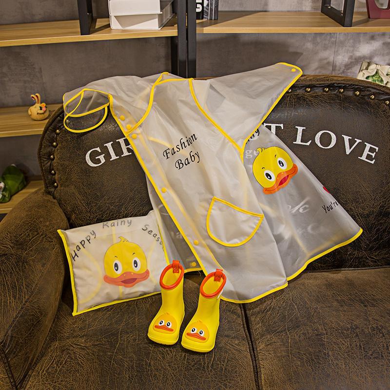 Kinderregenmantel Jungen und Mädchen Kindergarten Jumpsuits Cape Stil Poncho Stil Kleidung mit Schultasche Zone