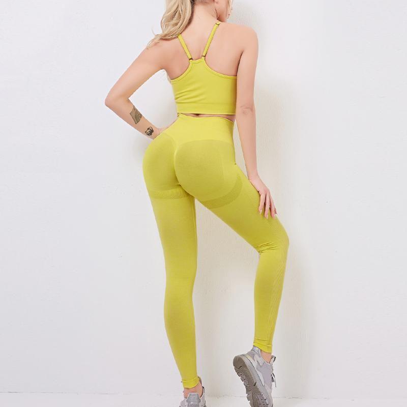 النساء اليوغا مجموعة الرياضة البرازيلي واللباس الداخلي للمرأة رياضة مجموعة الملابس سلس تجريب اللياقة البدنية ملابس رياضية للياقة البدنية الرياضة البدلة الرياضية