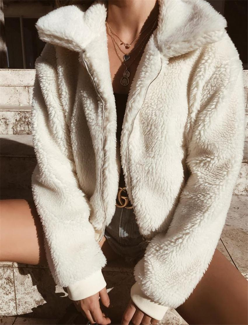 Kadınlar Palto Sonbahar Ve Kış Sıcak Kadife Kuzu Saç Ceket Kalın Coat 6 Renkler Büyük Ölçekli Bayan Giyim S-3XL