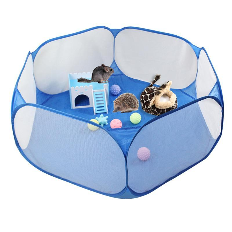 Pet Cage Tent Playpen Breathable Small Animals Folding Portable Lightweight Fence for Hamster Hedgehog Puppy Cat
