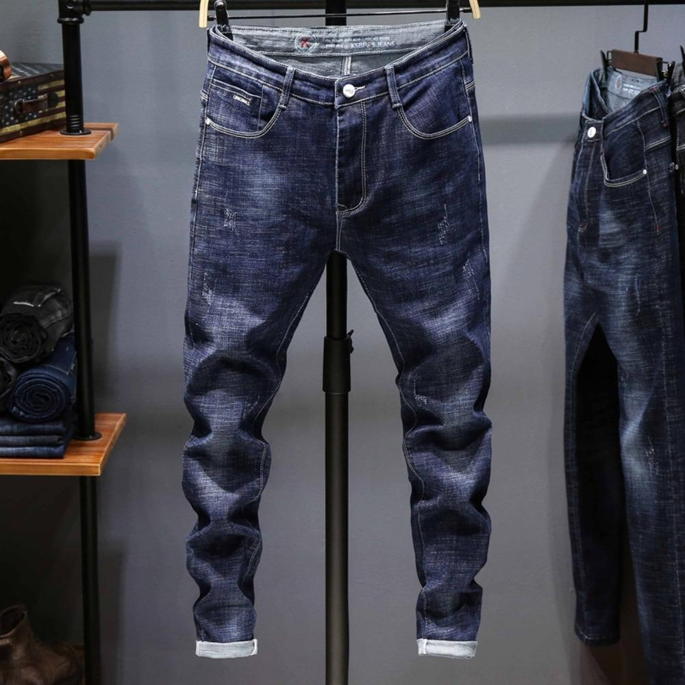 qLsQf NUAtc 2020 dei jeans dei pantaloni nuovo stile coreano slim-fit marchio di tendenza tratto piccolo piede somma maschile casuale degli uomini e della molla dei jeans