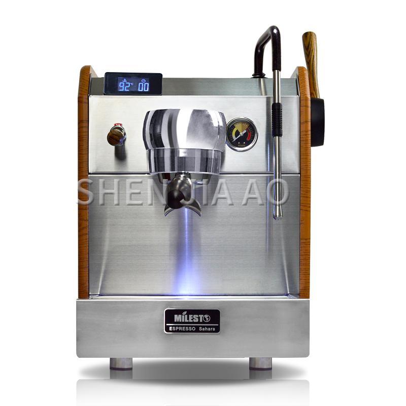 EM-23 nouveau contrôle Type de pompe semi-automatique Cafetière italienne pression lait en mousse Machine à expresso double PID 220 V / 50-60 Hz