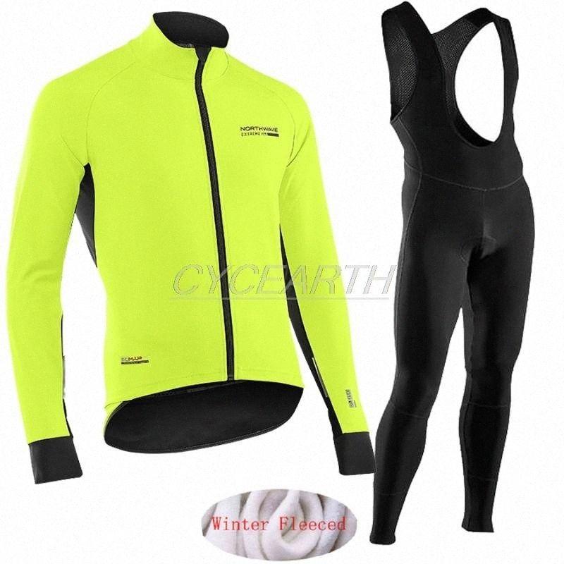 NOVO Northwave 2020 inverno fleece térmica Ciclismo Roupa NW advertir os homens Calças Jersey terno Jacket andar de bicicleta roupas MTB Bib definir YQPl #