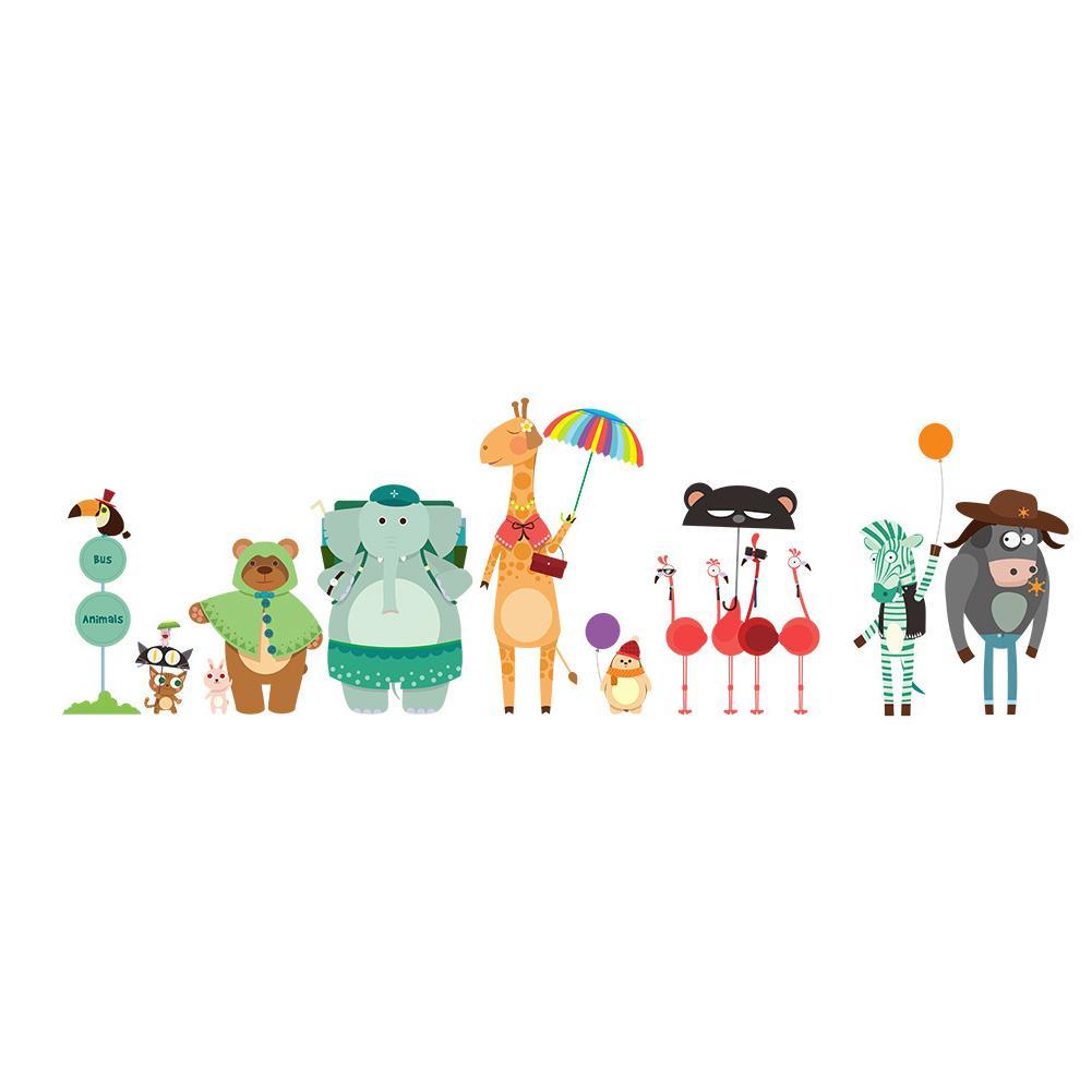 Ребенок Мультфильм животных Детская комната Современные DIY стикер стены Дети самоклеющиеся