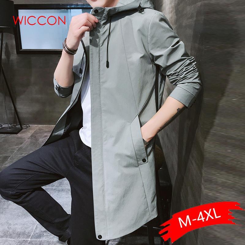 2020 Autumn Mens casuali del Hoodie di modo del rivestimento degli uomini impermeabile Windbreaker abiti da uomo cappotto maschile di alta qualità Trench