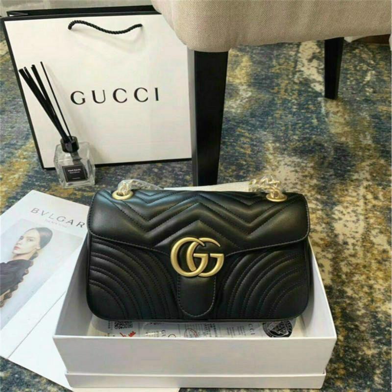 B23 Luxus Marmont Tasche 443.497 Luxus-Handtaschen Designer-Handtaschen Ursprüngliche weiche Lammfell-echtes Leder-Frauen-Schulter-Mode Bee Taschen