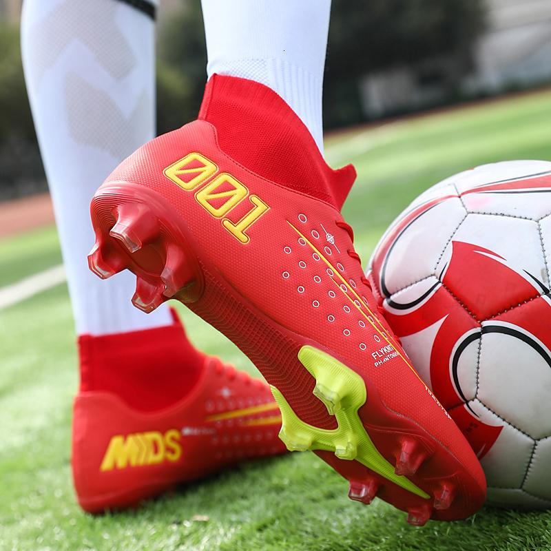 Outdoor Chaussures de football Hommes Sneakers AG Crampons Chaussures de soccer professionnel High Top Chaussures Homme Baskets Chuteira Futelbol