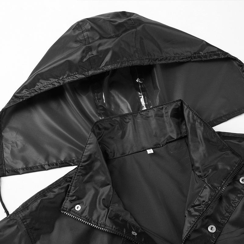 sLcjs gh8GZ Herren-Schutzhalblangen Regenmantel und Arbeitsschutz kurzer Regenmantel einteilige Klage der Männer