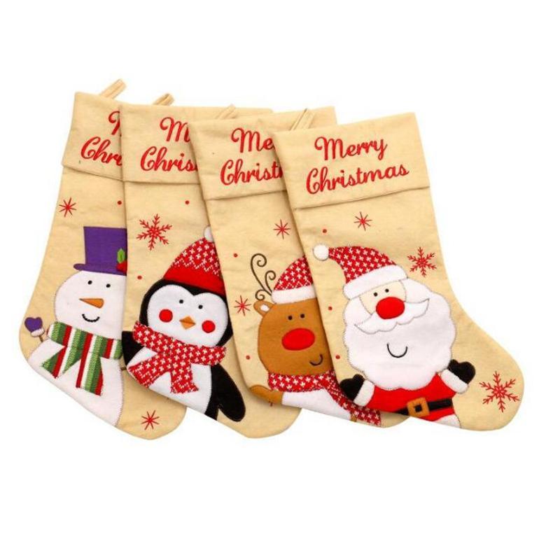 Borsa regalo di Natale Calze Candy Xmas Tree ciondolo appeso Decorazione di Buon Natale del partito della casa ornamenti creativo dono YYA383