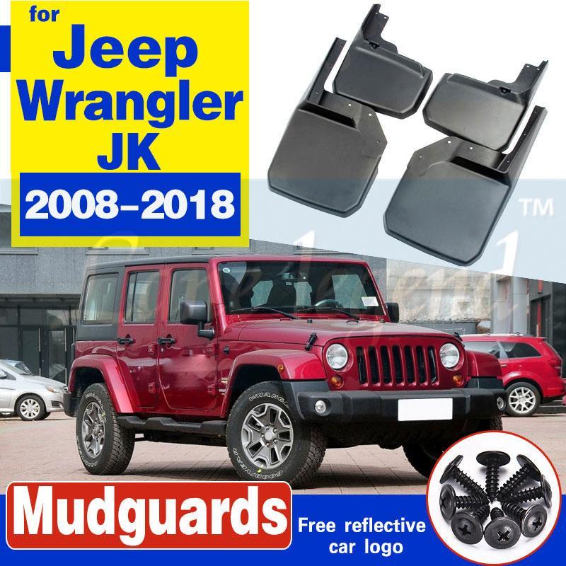 4PCS vorne + hinten MUD KLAPPEN FIT FOR Jeepwrangler JK 2008-2018 MUD FLAP SPLASH GUARDS FENDER 2015 2014 2013 2012 2011 2009 2010