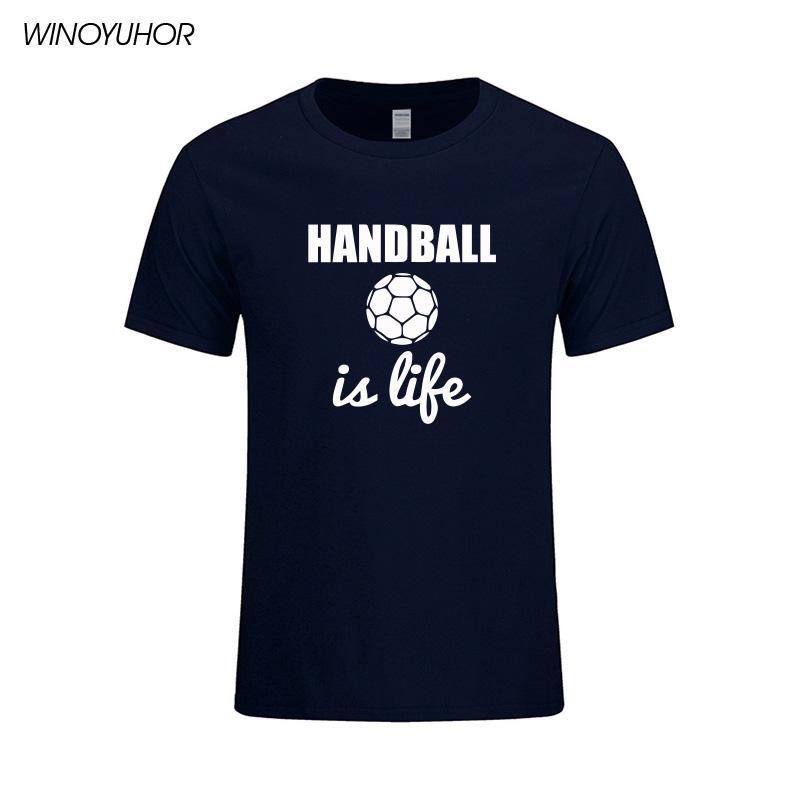 Handball est la vie des hommes T-shirt à manches courtes d'été Nouveau O T-shirt Col Casual Male T-shirts Tops Camisetas Masculina
