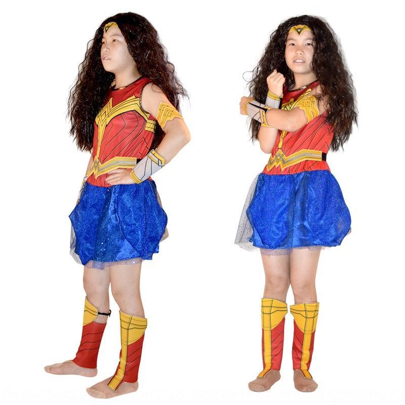 League Wonder Woman costume Halloween cosplay girls clothing alliance service dress children's performance Justice League Wonder Woman cost