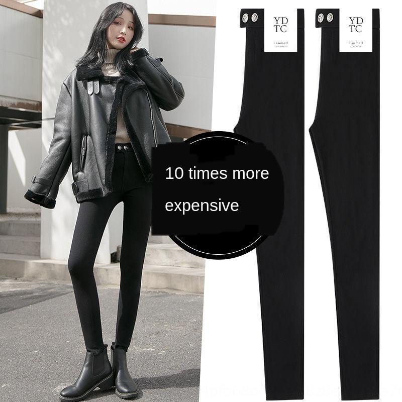 RaccW 2020 весна и м Корейских высокого размера жесткого карандаш плотного интернет талия большой стиль похудение леггинсы женщины верхнюю одежда брюки знаменитость A