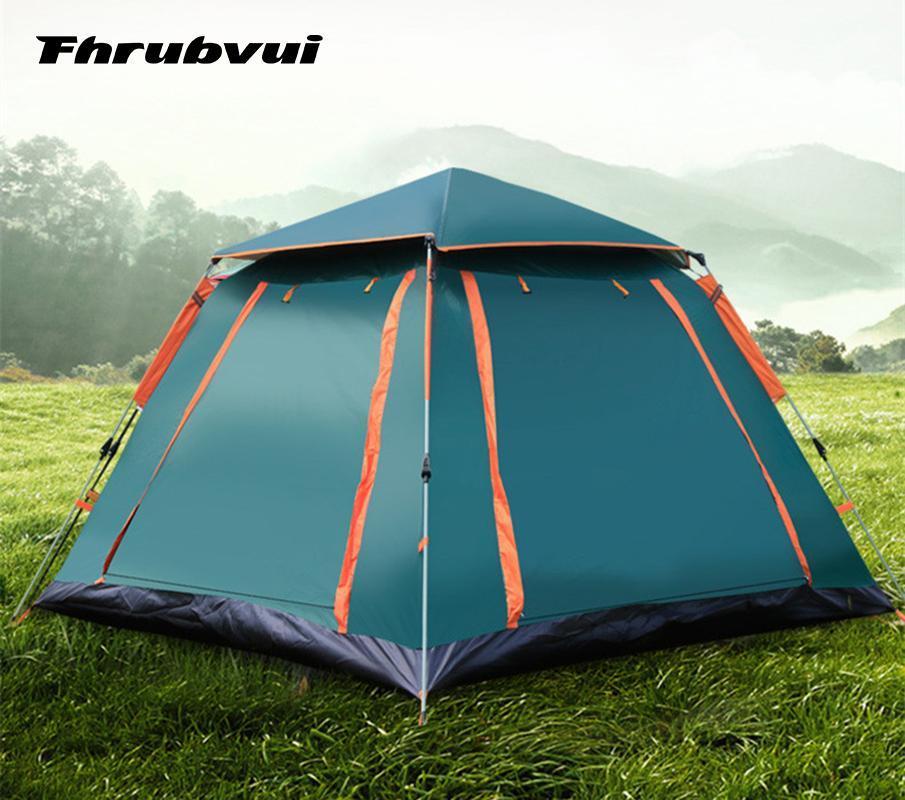 3-4 Pessoa automática Camping Tent Tent ultralarge Família Gazebo Tourist Waterproof Setup Marquee Fácil Up Auto Driving