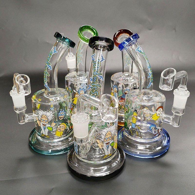 2019 heißes verkaufendes Glas bong Bohrinsel Wasser Rauchen Bongs weibliche dab Rigs mit Glas bangen I8P3 #