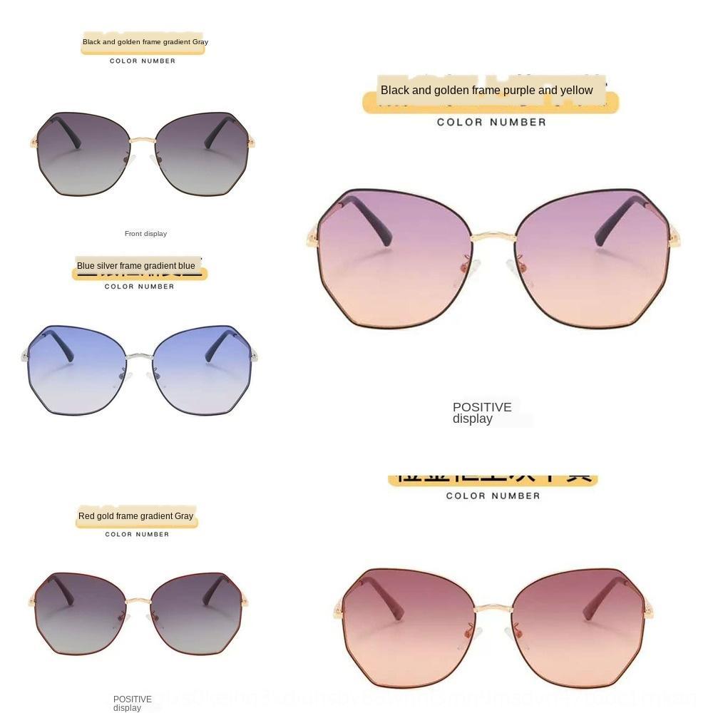 2020 neue Frauen-koreanische Art und Weise polarisiert Sonnenbrille ins Sonnenbrille rundes großes Gesicht kleines Gesicht