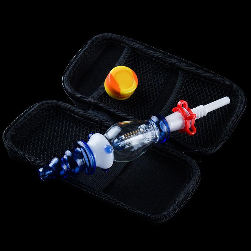 DHL gratuit NC Pro Kit verre Portable tuyau d'eau avec 10 mm 14mm Titane Quartz Banger cloueuse Dabber concentré paille huile Rigs miel