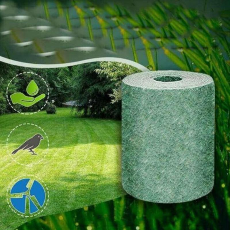 اللوازم 3M * 0.2M / 10M * 0.2M القابلة للتحلل العشب البذور حصيرة البذور كاتب بساط العشب السجاد كاتب حديقة
