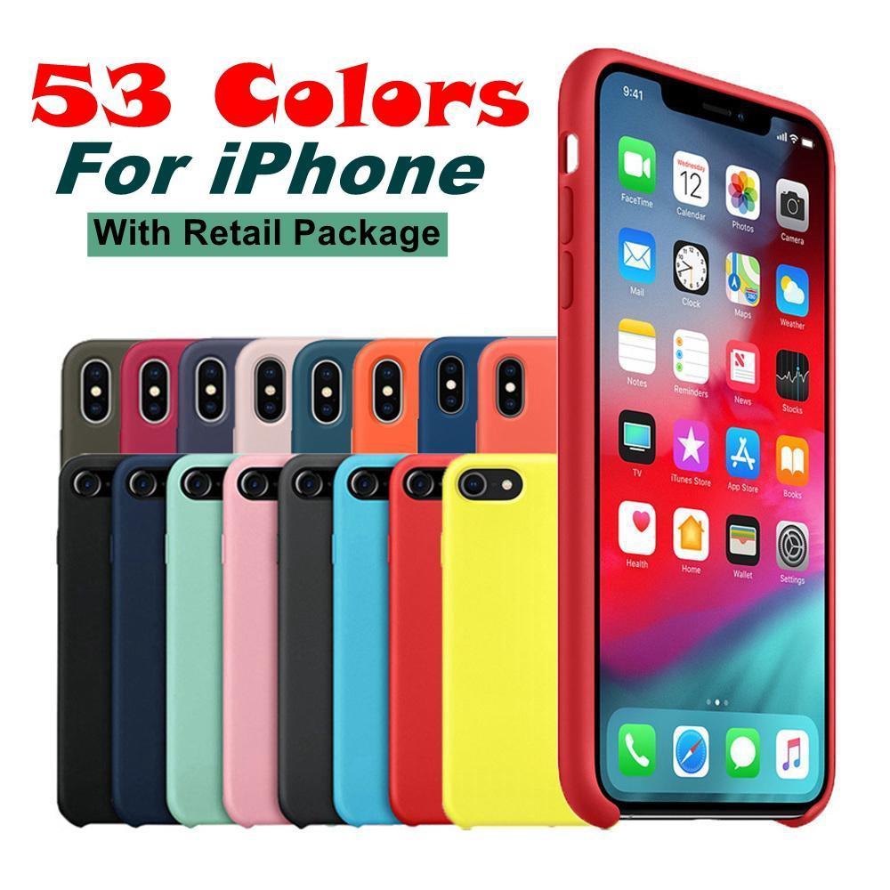 cgjxs53 Couleurs silicone souple pour iPhone 11 11 Pro Max 11 Pro Shock Absorption pour iPhone Xs Max Xr Xs 6 7 8 Plus Avec détail Packa