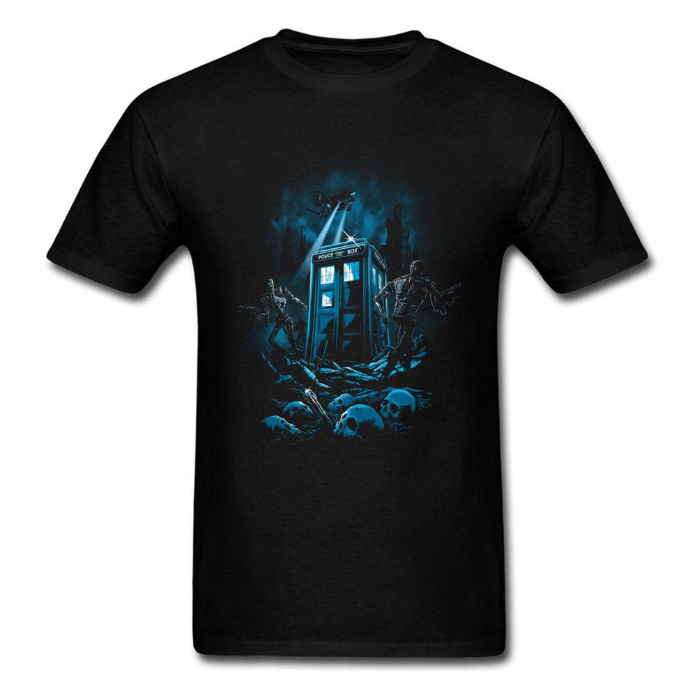 Doctor Who giudizio Europa T-shirt Aircraft Bobot Antagonismo Guerra Comic-shirt nera T annata di modo bizzarro Tee Shirts Mens