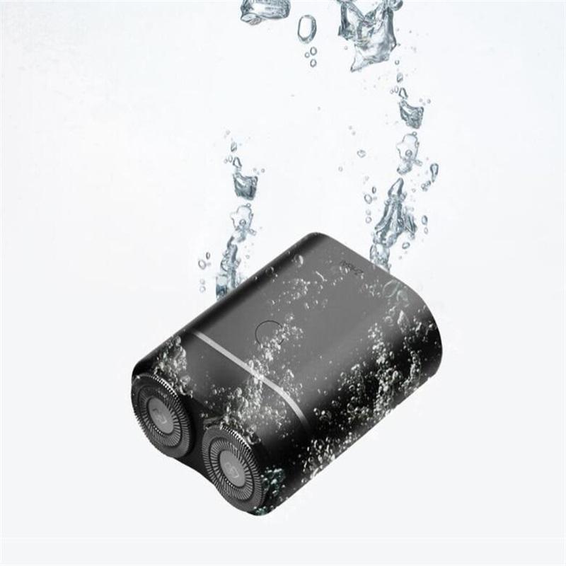 الأصل XIAOMI Zhibai ماكينة حلاقة كهربائية للماء البسيطة USB قابلة للشحن آلة الحلاقة الرطبة والجافة الرجال اللحية تريم الوجه قطع الشعر