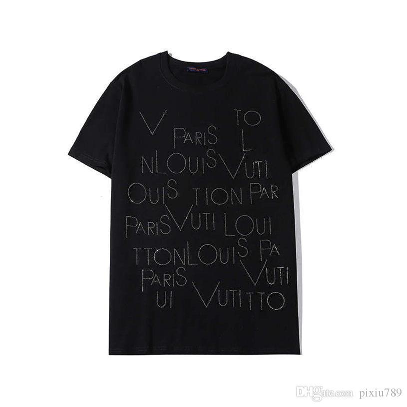 20SS mens conception t-shirt 100% des vêtements décontractés Stretch Vêtements Chemises styliste italien