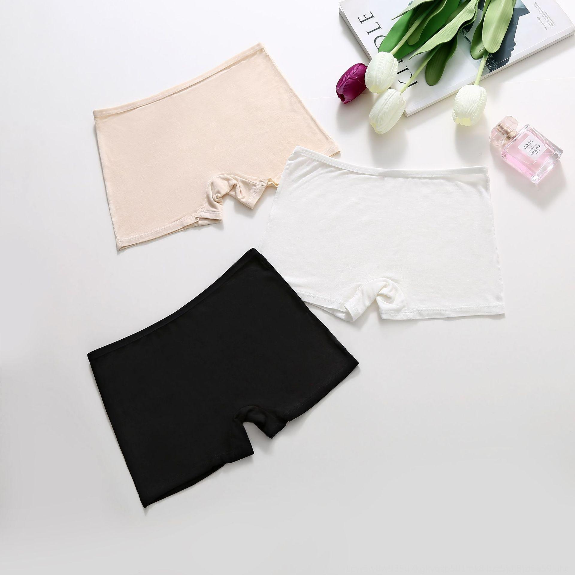 pantalones de la seguridad apretada XhARt encaje contra la intemperie pantalones de la seguridad del desgaste del verano de las mujeres delgadas sin costura grandes mallas de tamaño modal