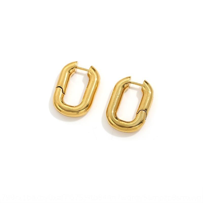 R1HOo moda nueva rectangular y chapado en oro de cobre metal simple geométrica de las mujeres de moda de nuevo rectangular y cobre geo chapado en oro de las mujeres