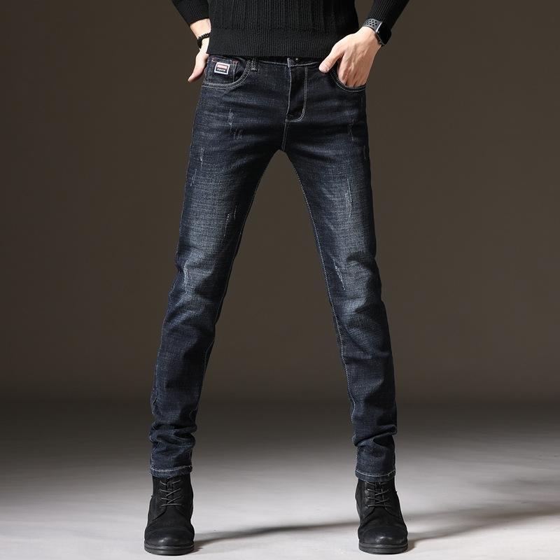 Hombres 2020 y los pantalones vaqueros nueva tendencia estiramiento de los pantalones vaqueros de la personalidad delgada ocasional del ajuste de los hombres de tendencia wMw2a