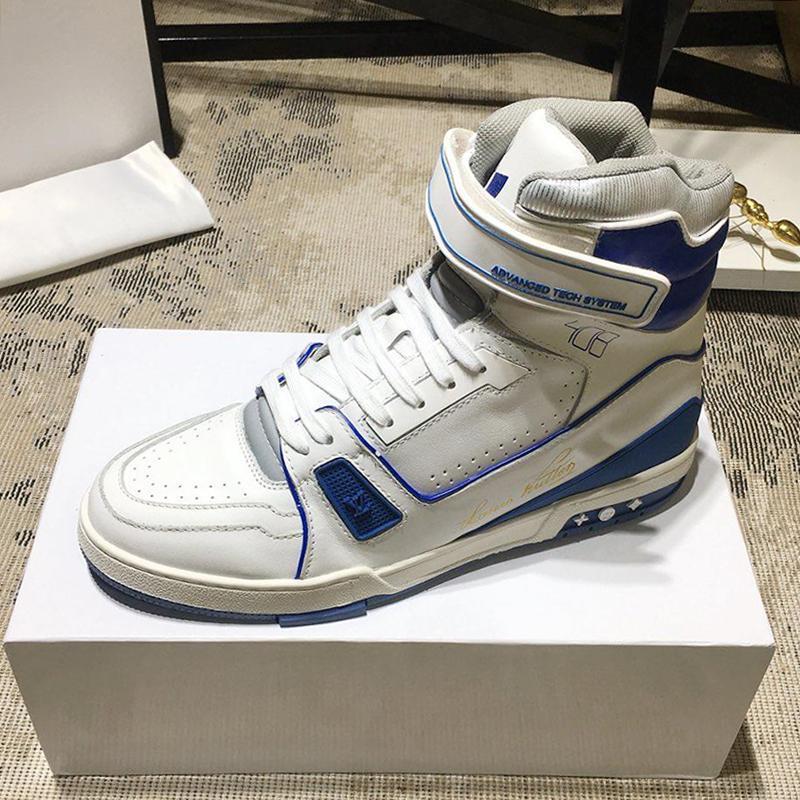 Trainker Sneaker Boot Men '; S scarpe di alta qualità molle comodo Calzature di lusso High Top traspirante Men Casual Shoes Zapatillas Homb