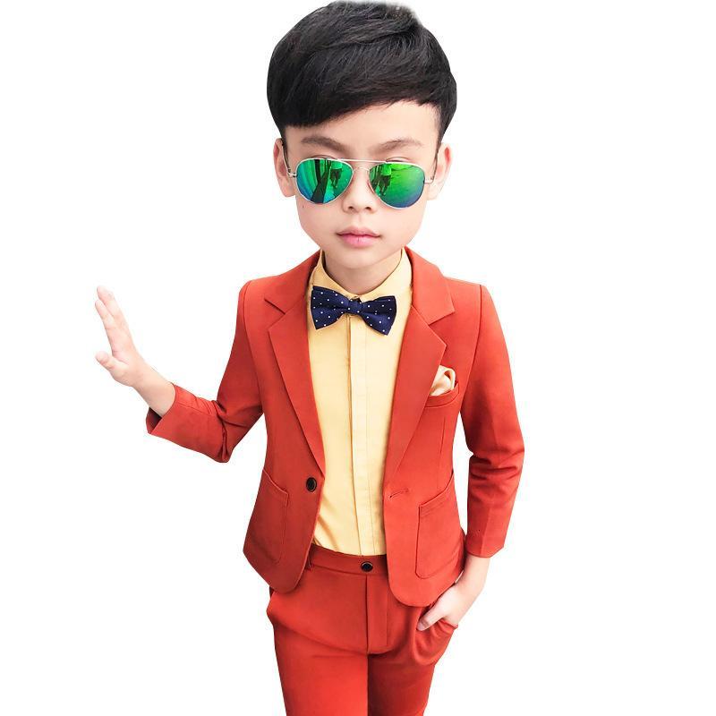 2020 Boys Formal Suits for Wedding Party Toddler Boy Blazer Pants 2pcs Suit Set School Kids Ceremony Costumes Children Clothes