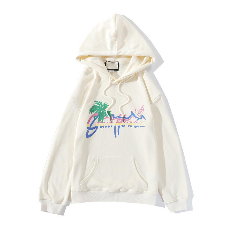 2020 Italia nuevo de la manera Carta con capucha Moda de impresión con capucha Streetwear hombres y mujeres pulóver sudadera