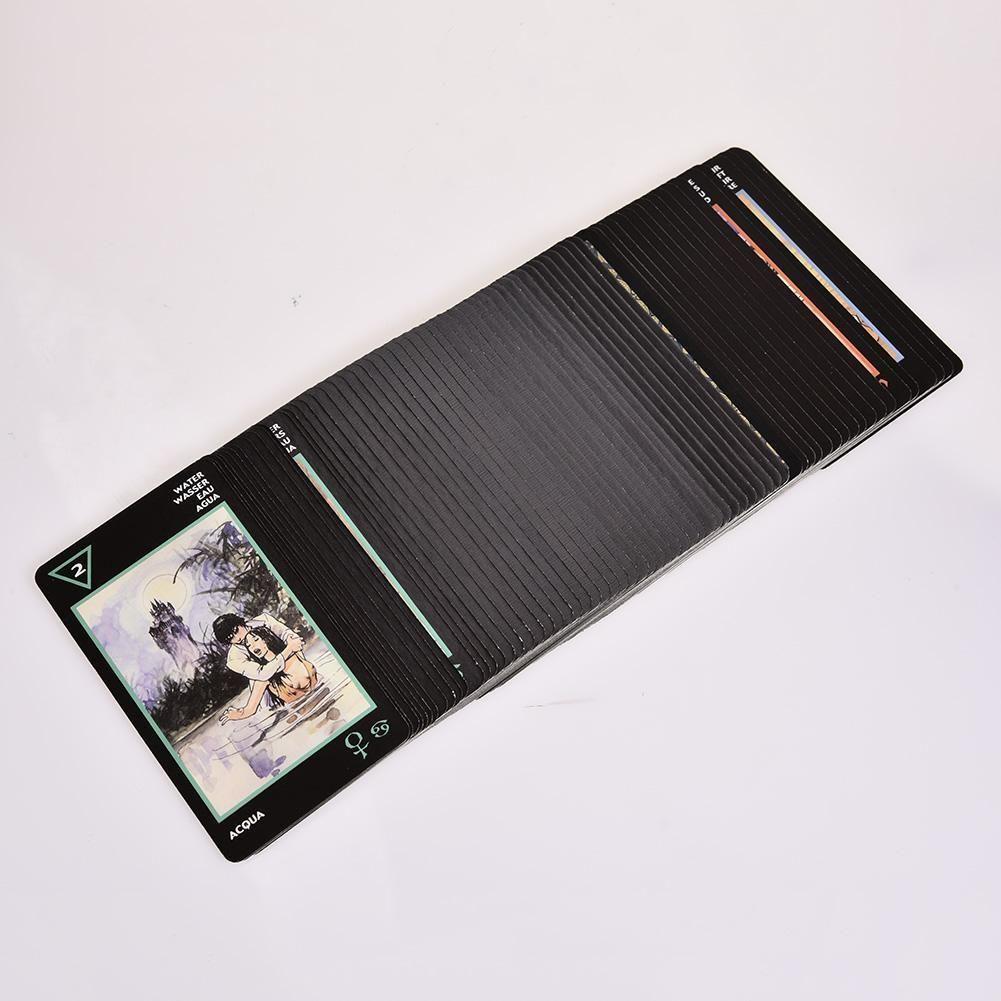 Manara Family Party für Karten Englisch 78pcs Voll Durable Cards Version Tarot Vivid Geschenke Spiel VEZZr mjhome