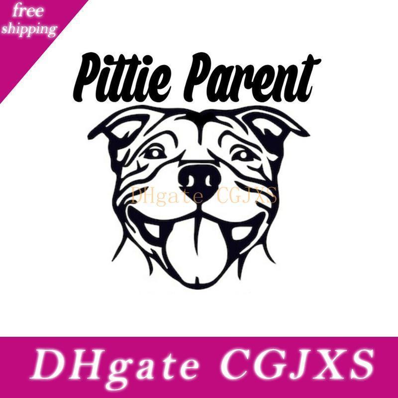 15 * 14 .4cm Pittie Elternteil Pitbull Netter Hund Auto-Dekor-nette und interessante Art und Weise Aufkleber-Abziehbilder Autozubehör