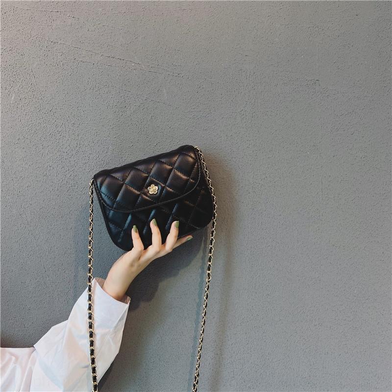 Женская Mini 2020 лета новый модный корейский стиль все-матч Ins Кроссбоди нишу алмазов Малый небольшой мешок текстуры алмазов цепи мешок VFoZx