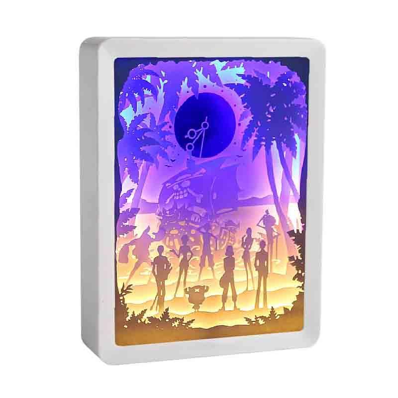 قطعة واحدة الطرفية ورقة نحت مصباح شخصية أنيمي 3D مكدسة الظل مصباح الأعمال هدايا ديي الحرف LED الديكور الجدول مصباح