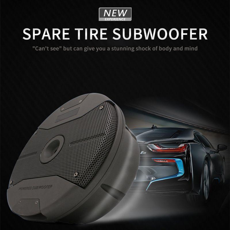 Coche de audio subwoofer rueda de repuesto Doble coche 6.5 pulgadas subwoofer activo de 12 V de conversión de audio