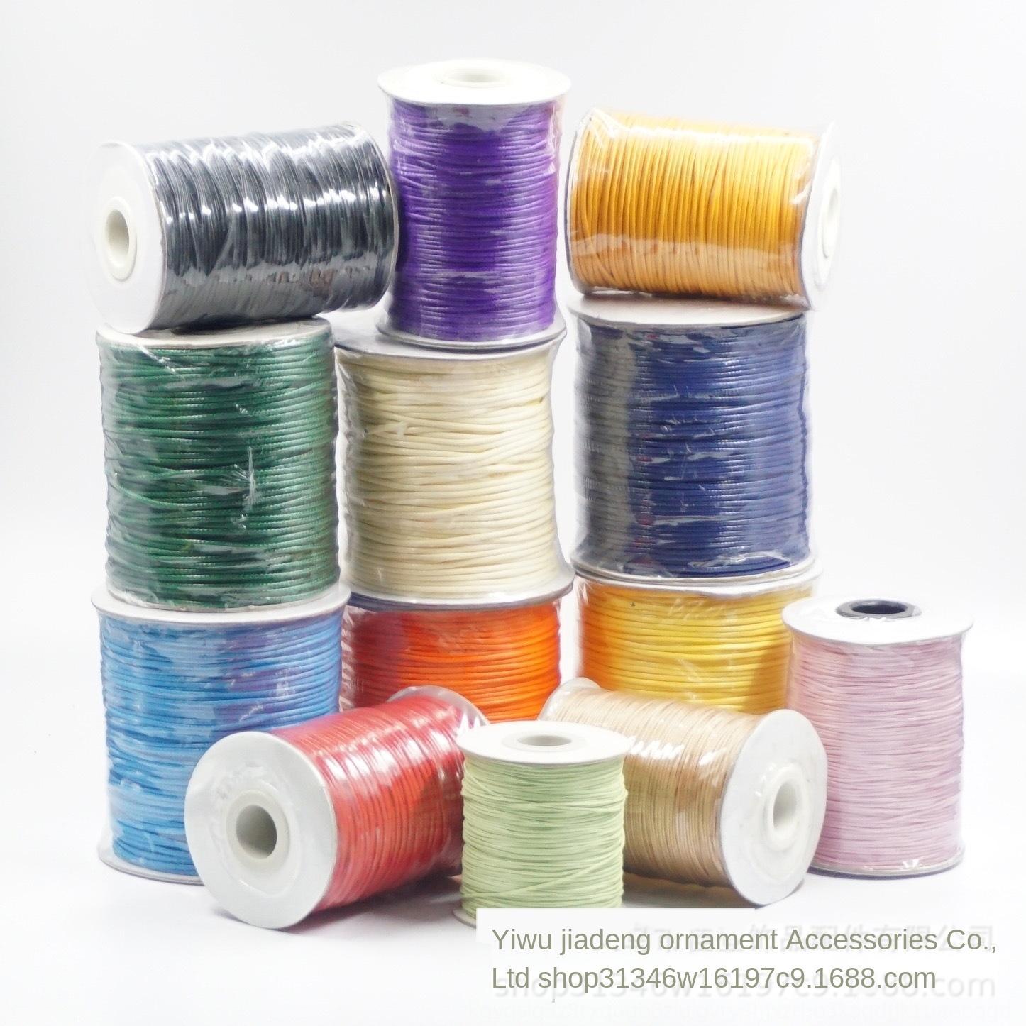 Bricolage coréenne main tag bijoux collier collier Diy étiquette de fil tressé corde multi-modèle fil de cire coréenne corde de cire